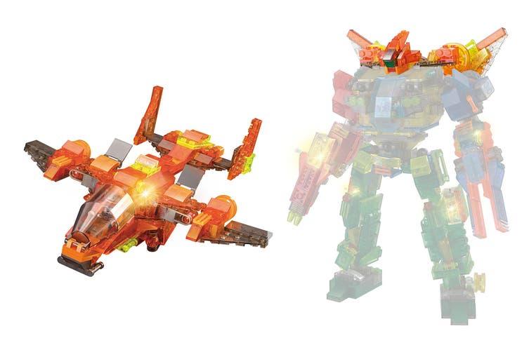 Lego Compatible MetaMorph Elite Blocks (Light Up Jet)