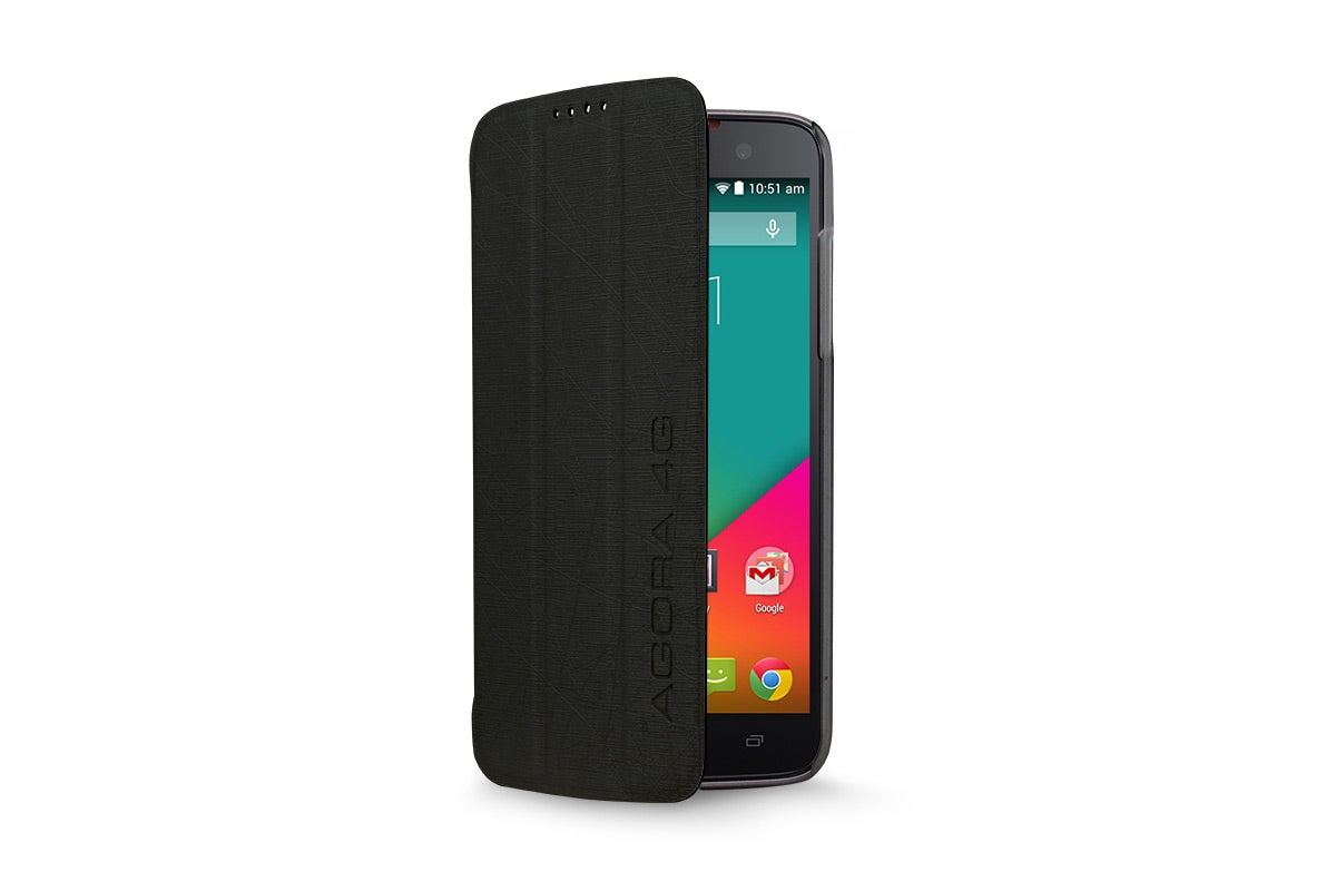 Cases - Flip Case for Kogan Agora 4G/4G+ Smartphone (Black)