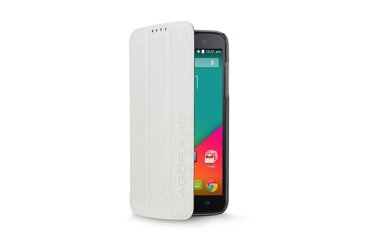 Cases - Flip Case for Kogan Agora 4G/4G+ Smartphone (White)