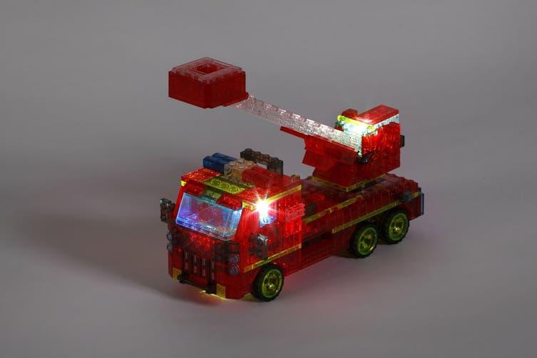Lego Compatible MetaMorph Blocks (Light Up Fire Truck)
