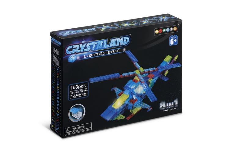 Lego Compatible MetaMorph Blocks (Light Up Helicopter)