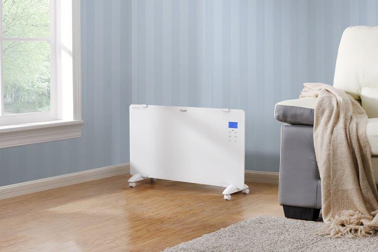 Kogan 2000W White Glass Portable Electric Panel Heater