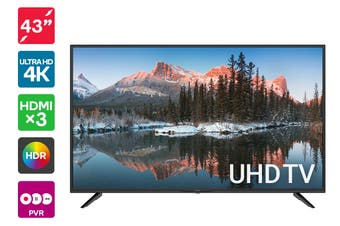 "Kogan 43"" 4K UHD HDR LED TV (Series 8, JU8400)"