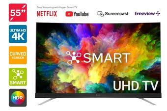 "Kogan 55"" Curved Smart HDR 4K UHD LED TV (Series 8 MU8510)"