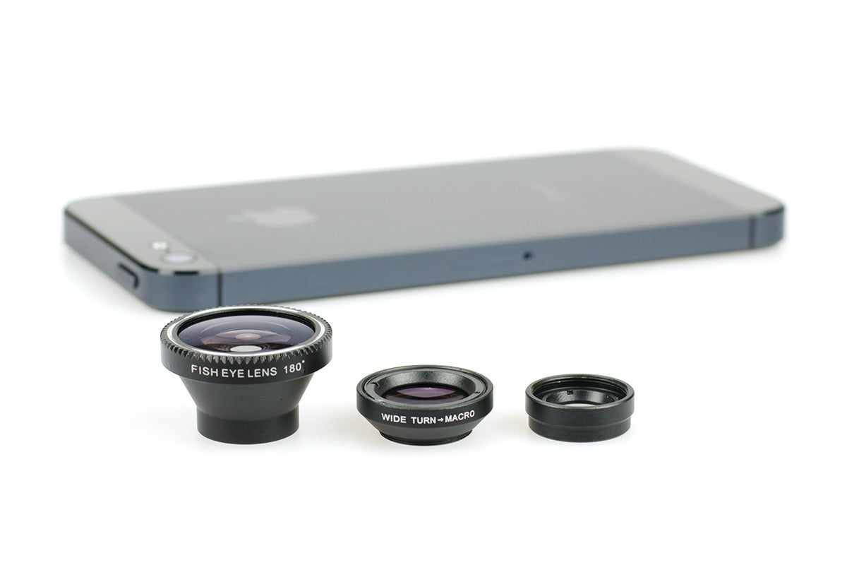 Action Cases & Photo Accessories - Smartphone Lens Kit (Macro, Fish Eye, Wide Angle)