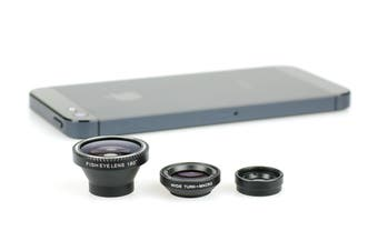 iPhone Lens Kit (Macro, Fish Eye, Wide Angle)