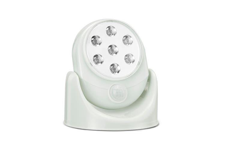 Wall Mounted Motion Sensor Cordless LED Light (White) - 8 Pack