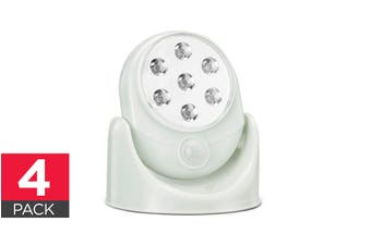 Wall Mounted Motion Sensor Cordless LED Light (White) - 4 Pack