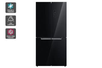 Kogan 545L French Door Fridge - Black Glass