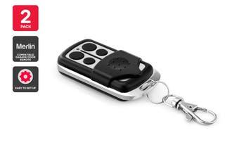 2 Pack Merlin Compatible Garage Door Remote