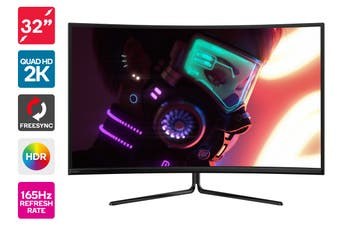 "Kogan 32"" Curved QHD 165Hz FreeSync HDR Gaming Monitor (2560 x 1440)"