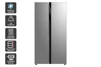 Kogan 584L Side by Side Fridge - Stainless Steel