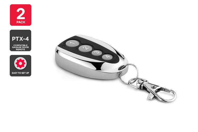 2 Pack PTX-4 Compatible Garage Door Remote
