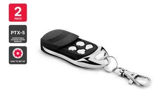 2 Pack PTX-5 Compatible Garage Door Remote