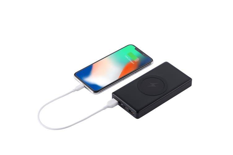 Kogan 10000mAh Qi Wireless Power Bank with PD (Black)