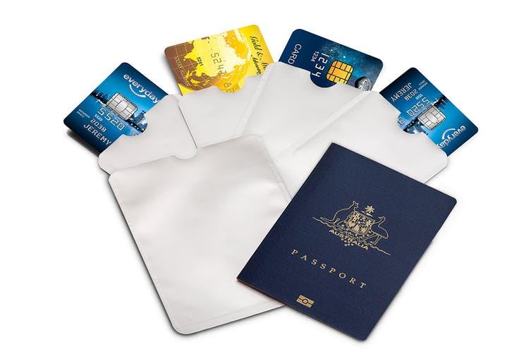 6 Piece Credit Card & Passport RFID Sleeve Set