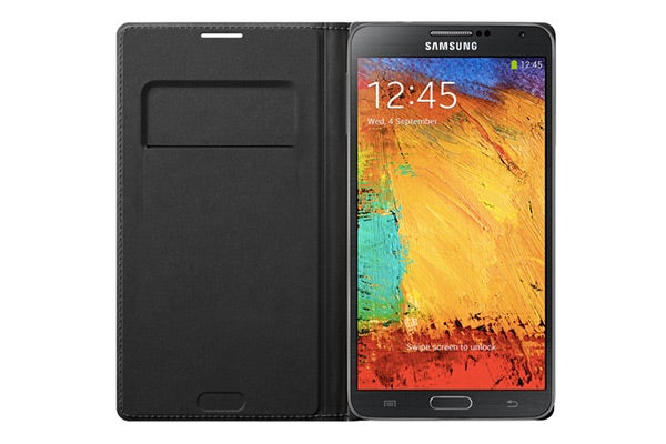 Cases - Samsung Galaxy Note 3 Genuine Leather Wallet Flip Cover (Black)