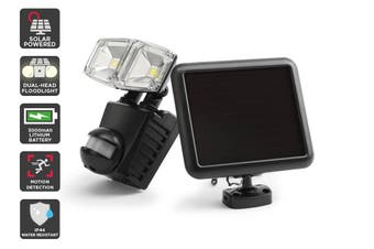 Solar Powered Motion Sensor Dual LED Flood Light (3000mAh)