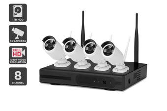 Kogan 8 Channel 1080P 1TB Super Compression Security System with 4 Wireless Cameras
