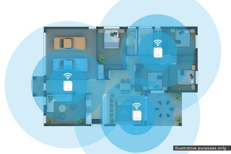 Kogan Wi-Fi AC1200 Whole-Home Mesh 3 Pack