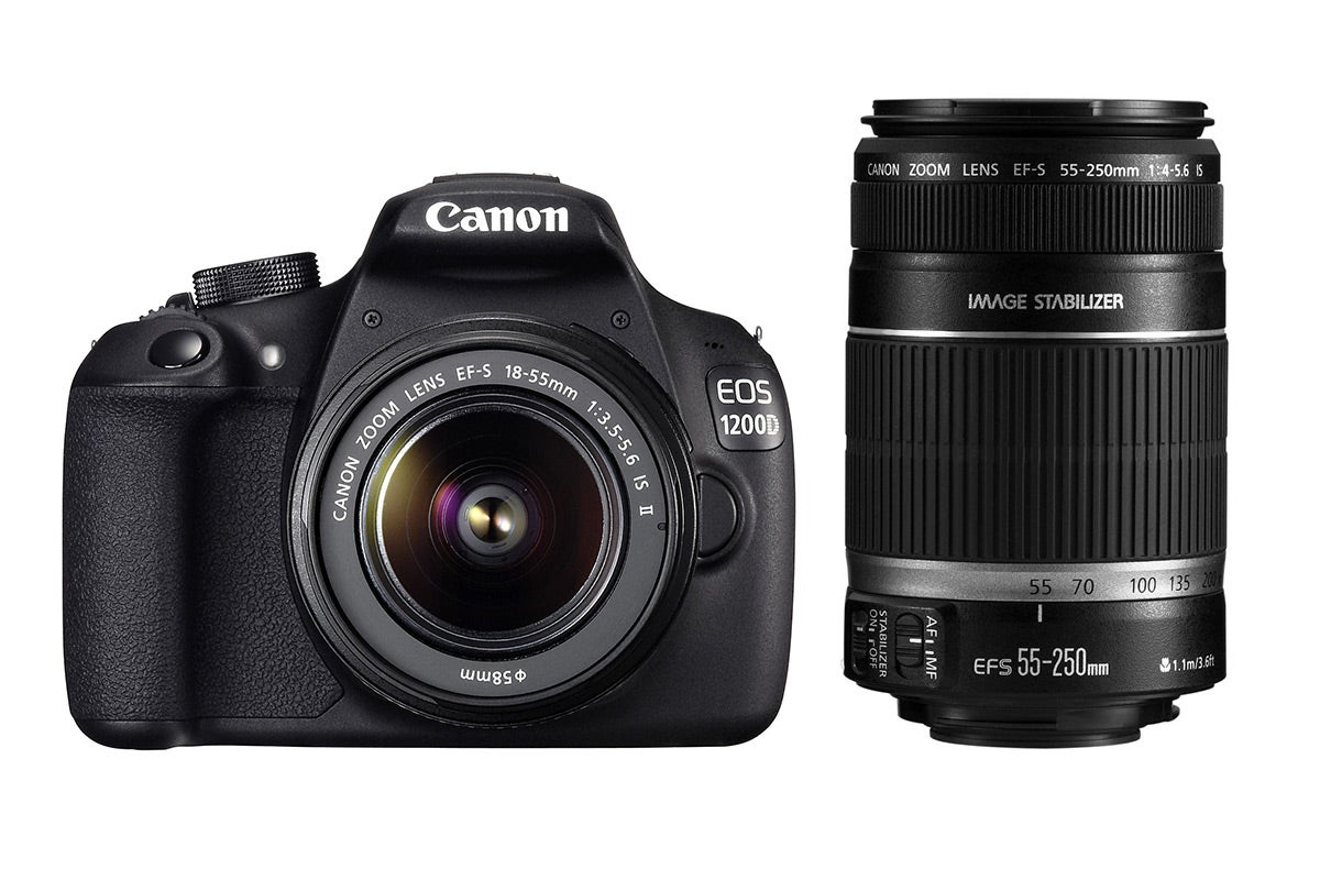 DSLR Cameras - Canon EOS 1200D DSLR Camera 18-55mm IS II & 55-250mm IS Lens Kit