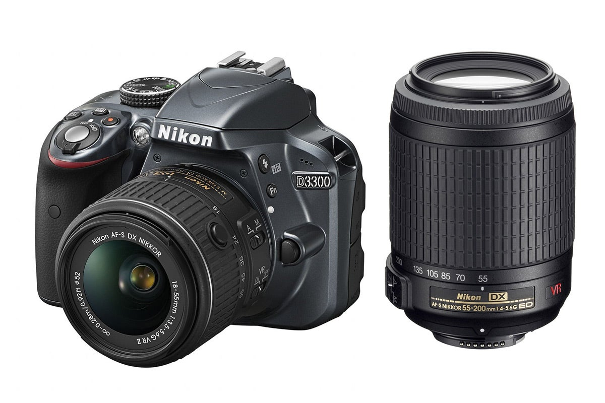 DSLR Cameras - Nikon D3300 DSLR Camera 18-55mm VR II & 55-200mm VR Twin Lens Kit