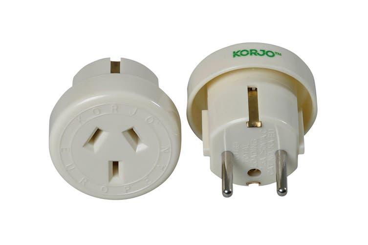 Korjo Single Travel Adapter (Europe)