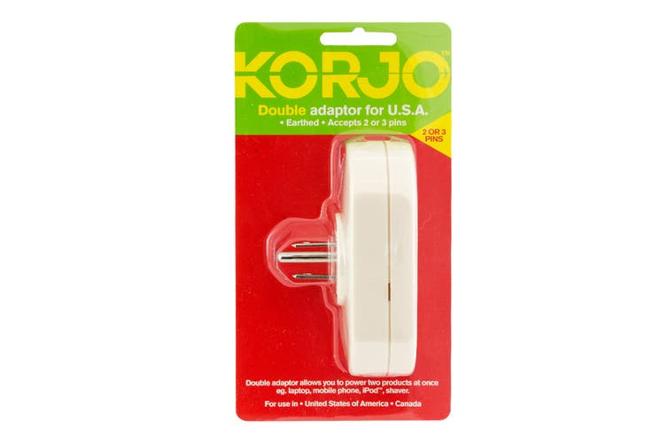 Korjo Travel Double Adapter (USA)