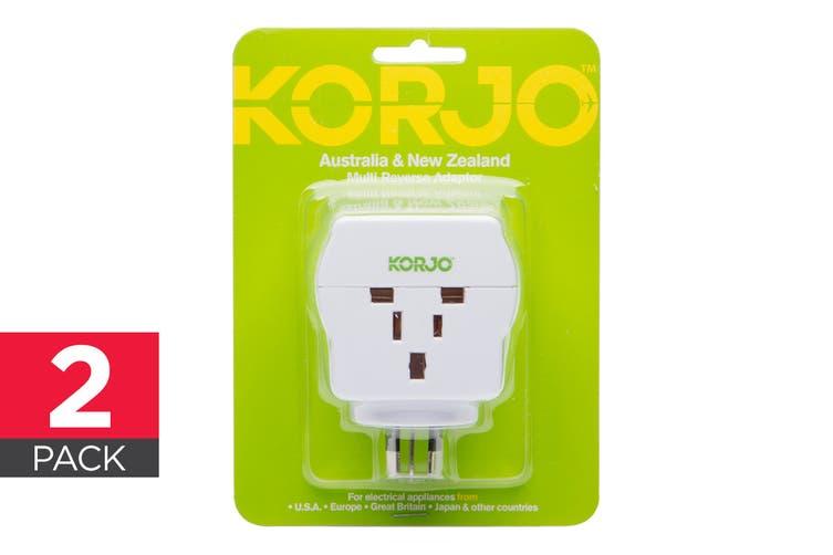 Korjo 2 Pack Multi Reverse Adapter