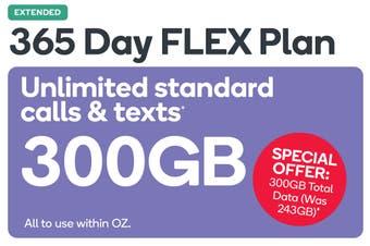 Kogan Mobile Prepaid Voucher Code: LARGE (365 Days FLEX | 300GB)
