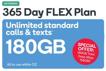 Kogan Mobile Prepaid Voucher Code: MEDIUM (365 Days FLEX | 158GB)