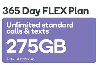 Kogan Mobile Prepaid Voucher Code: LARGE (365 Days FLEX | 243GB)