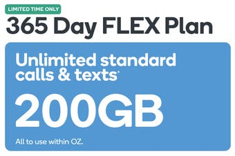 Kogan Mobile Prepaid Voucher Code: MEDIUM (365 Days FLEX | 158GB)