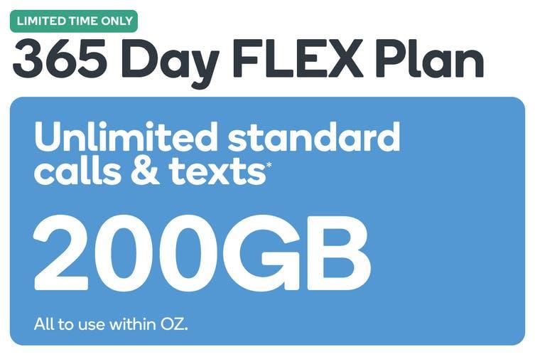 Kogan Mobile Prepaid Voucher Code: MEDIUM (365 Days FLEX | 200GB)