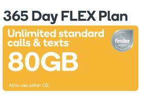 Kogan Mobile Prepaid Voucher Code: SMALL (365 Days FLEX | 80GB)