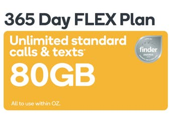 Kogan Mobile Prepaid Voucher Code: SMALL (365 Days FLEX | 80GB)