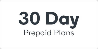 30 Day Prepaid Plans