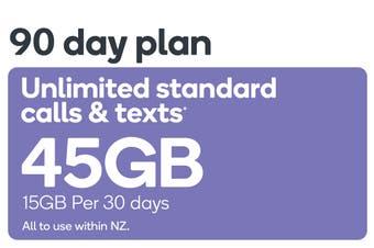 Kogan Mobile Prepay Voucher Code: LARGE (90 Days | 15GB Per 30 Days)