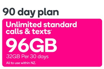 Kogan Mobile Prepay Voucher Code: EXTRA LARGE (90 Days | 32GB Per 30 Days)