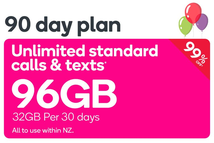 Kogan Mobile Prepay Voucher Code: EXTRA LARGE (90 Days   32GB Per 30 Days)
