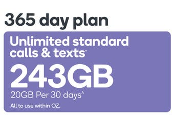Kogan Mobile Prepaid Voucher Code: LARGE (365 Days | 20GB Per 30 Days)