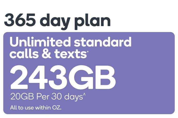 Kogan Mobile Prepaid Voucher Code: LARGE (365 Days | 20GB Per 30 Days)