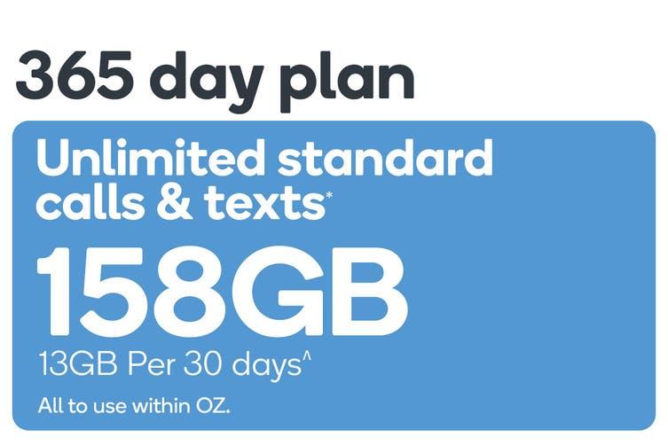 Kogan Mobile Prepaid Voucher Code: MEDIUM (365 Days   13GB Per 30 Days)