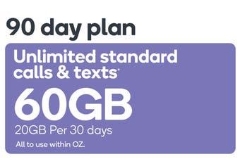 Kogan Mobile Prepaid Voucher Code: LARGE (90 Days   20GB Per 30 Days)