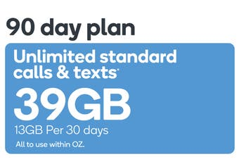 Kogan Mobile Prepaid Voucher Code: MEDIUM (90 Days | 13GB Per 30 Days)