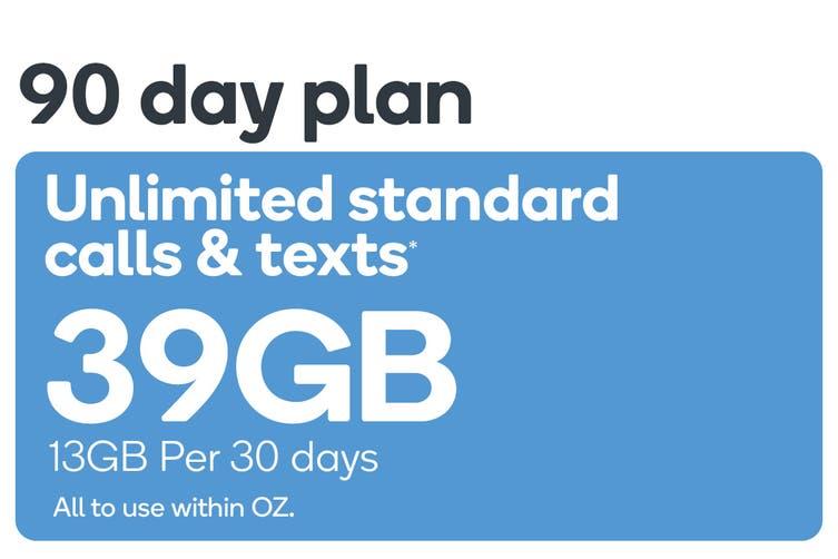 Kogan Mobile Prepaid Voucher Code: MEDIUM (90 Days | 13GB Per 30 Days)