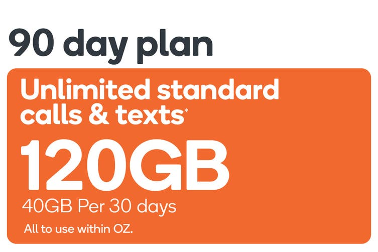 Kogan Mobile Prepaid Voucher Code: EXTRA LARGE (90 Days | 40GB Per 30 Days)