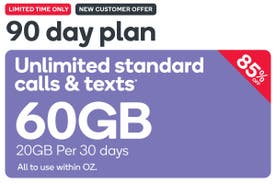 Kogan Mobile Prepaid Voucher Code: LARGE (90 Days | 20GB Per 30 Days) - New Customers Only