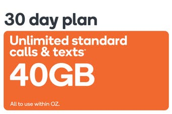 Kogan Mobile Prepaid Voucher Code: EXTRA LARGE (30 Days | 40GB)