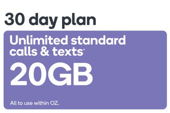 Kogan Mobile Prepaid Voucher Code: LARGE (30 Days | 20GB)